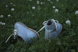 blå sko